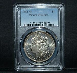 1881-O $1 MORGAN SILVER DOLLAR ✪ PCGS MS-62 PL ✪ S$1 PROOF LIKE L@@K ◢TRUSTED◣