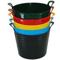 2 x 45 Litre X-Large Flexi Tub Home Garden Flexible Storage Colour Bucket Basket