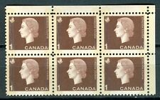 Canada #401piii 404iii Corner Block 6 UR Cameo Wide Narrow Tag Bars MNH