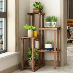 Ecke Blumenregal Holz Blumentreppe Pflanzentreppe für Indoor Terrasse Balkon DE