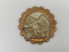Vintage metal AUTOMOVIL club de Chile Eagle voiture badge Auto emblème