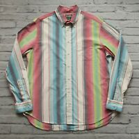 Gitman Bros Vintage Ombre Stripe L/S Shirt Size XL Made in USA Multicolor