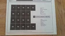DEPECHE MODE Catalogue Mute UK Press ADVERT 12x8 inches