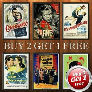 CLASSIC 1950s MOVIE POSTERS A4 Size Film Art Print Home Decor Gift Idea