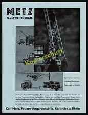 Carl Metz pompiers périphériques usine Camion grue régiment technique Karlsruhe 1938!