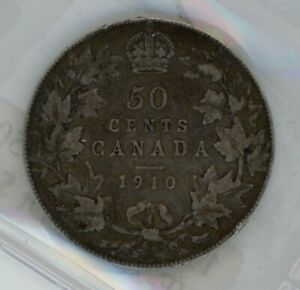 1910 Victorian Leaves Canada Fifty Cents - ICCS VF-20