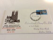 GB FDC 900th Anniversary Westminster Abbey 3D Stamp  28.02.1966 on Cathedral cov