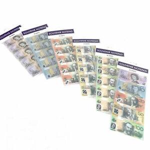 50 sheets Souvenir Australia notepad fake cash dollar booklet money mini