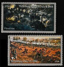 US 4787-4788 Civil War 1863 forever set (2 stamps) MNH 2013