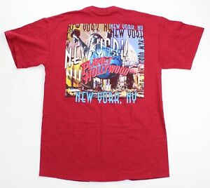 Vintage Adult Medium Planet Hollywood New York City Double Sided Red Shirt