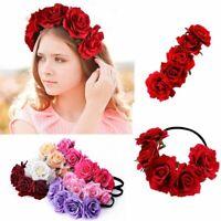 Mädchen Krone Blumen Rose Blume Stirnband Haarband Girlande Kopfbedeckung