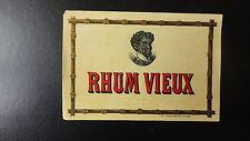 ANCIENNE ETIQUETTE ALCOOL RHUM VIEUX IMPRIMERIE JMC ROUX ST ETIENNE