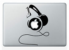 "1 pc Headphones Decal Sticker Vinyl Die cut Skin for  Macbook air 13"" Apple"