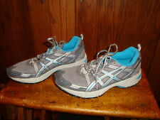Asics Women's Gel-Enduro Running Shoes 6 Silver/Lightning Turquoise Sizes 8.5
