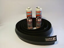 Garage Door Weather Seal Kit. Wide Double 6m Length,+ Sealant /Adhesive GaraSeal