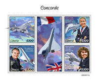 Liberia Aviation Stamps 2020 MNH Concorde British Airways Air France 4v M/S