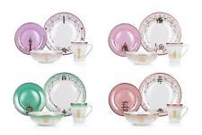 Disney Themed 16 Piece Ceramic Dinnerware Set Collection 2 | Plates | Bowls |
