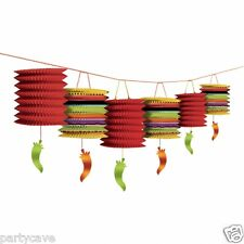 MEXICAN FIESTA FUN PARTY CHILLI GARLAND  HANGING PAPER LANTERN DECORATION