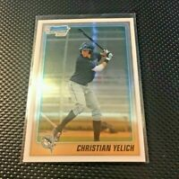 2010 Bowman Chrome Christian Yelich 1st Rookie Rc - Chrome BDPP778 Brewers MVP