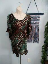 Ladies Worthington Stretch Tunic Blouse - Dark Colors - Embellished - Size Large
