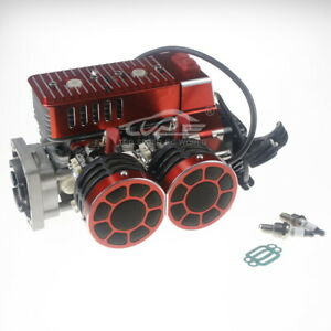 58CC Engine Two Cylinders Kit for 1/5 Hpi RV KM Mcd Gtb Fg DDT Baja Losi Truck