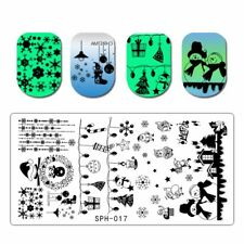 Christmas Nail Art Stamping Plate Snowflake Stamp Images Designs Plates SPH 017