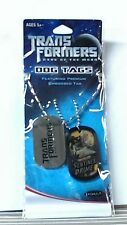 TRANSFORMERS - Dark Of The Moon / DOG TAGS / SENTINEL PRIME / METAL 26 in CHAIN