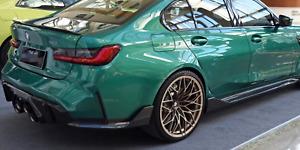 BMW M3/M4 (G80/G82) M Performance Style Replacement Carbon Fibre Rear Bumper Tri