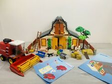 Playmobil 3072 And 3929 - FARM BARN SET AND COMBINE HARVESTER + Instructions