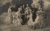 Adel Monarchie ~1906 Fotokunst Ferdinand Keller Motiv Kaiser Familien mit Hund