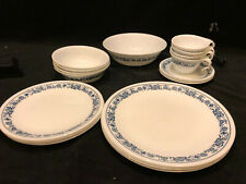21 pieces Corelle Dinnerware Old Town Blue 4 Place settings + Serving Bowl