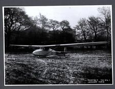 SLINGSBY PREFECT GLIDER LARGE VINTAGE ORIGINAL MINISTRY OF SUPPLY PHOTO