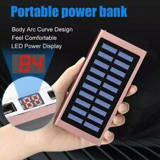 1000000mAh Solar Power Bank Waterproof 2 USB LED Battery Charger External Grand