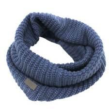 Scaldacollo uomo sciarpa ad anello a coste 100% acrilico 40x25 blu