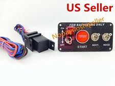 Car 4 in 1 12V Ignition Illuminate Switch Panel Engine Start Push Button Toggle