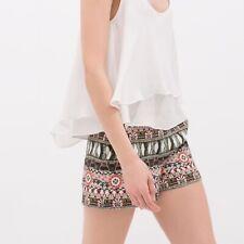 Zara Woman Hi Rise Floral Tapestry Shorts, Size 5 EUC