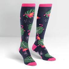 Sock It To Me Women's Knee High Socks - Flamingo