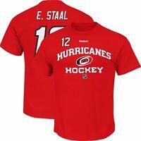 Eric Staal Carolina Hurricanes NHL Reebok Men's Red Jersey T-Shirt