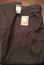 NWT Axist Men's Flat Premium Comfort Pant Slacks 38x30 Charcoal 2 Ply Easy Care