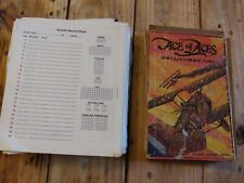 Vintage Ace Of Aces World War One Air Combat Game And Aircraft Record Sheets