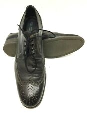 John Varvatos Black Wingtip Made in Italy Mens Oxford Leather Dress Shoes Sz 12