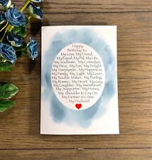 My Everything Romantic Happy Birthday Handmade Greeting Card For Husband
