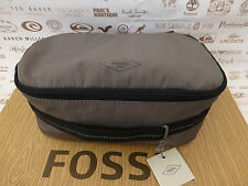 Fossil Wash Bag Travis Travel Kit brüniert Polyester Pflegemittel Beutel Bnwt Rrp £ 39