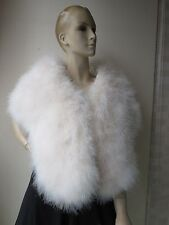 L#Free shipping/real ostrich feather fur cape/wrap/wedding Accessories/cream