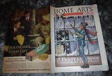 HOME ARTS NEEDLECRAFT JAN 1939 JACK FROST ELF,SWEDISH DESIGN, TATTED,WOOL,CROCH