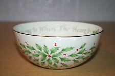 "Lenox Holiday Sentiment Bowl ""Home Is Where The Heart Is"" Nib"