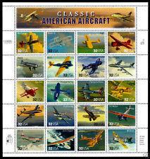 Scotts #3142 32c AMERICAN AIRCRAFT FULL SHEET, MNH