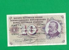 SWITZERLAND BANKNOTE 10 FRANK  1971 YEAR