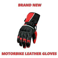 Mens Motocross Motorcycle Real Leather Gloves Racing Sports Hard Protection CE