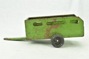 """Nylint Green Farm Utility Trailer Wagon Pressed Steel 11.25"""" long"""